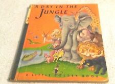 Rare Old Vintage Little Golden Book A Day In The Jungle (A) First Edition 1943