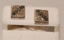 white Gold and diamond  man /ladies earrings stud earrings screw back studs