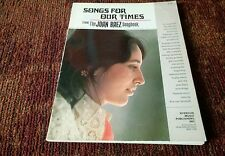 Songs of our Times from Joan Baez Songbook 1967 PVG Eric Von Schmidt Illustrator
