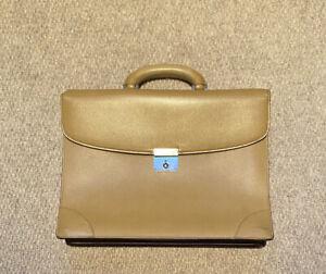 Valextra Golden Beige Briefcase