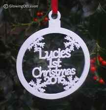 Personalised Babys Babies Childs First 1st Christmas Xmas Tree Decoration Bauble