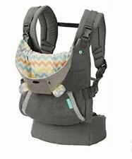 Infantino USA Cuddle Up Ergonomic Hoodie Baby Carrier Pouch Grey