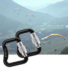 2Pcs Abseiling Paragliding Paraglider Parachute Snap Locking Carabiner 20Kn