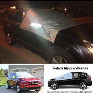 Magnet Windshield Rearview Mirror Ice Snow Protector Tarp Flap Cover SUV Offroad