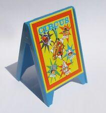 Playmobil ZIRKUS Plakat AUFSTELLER Werbung blau 3510 3553 Werbetafel