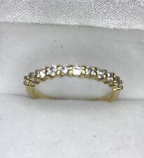Ring 0.65 ct April Birthstone 14k Solid Yellow Gold Natural Diamond
