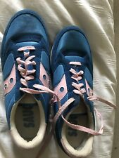Sacouny Athletic Tennis Shoes Ladies Size 9.5 Euc Blue Pink Cute Comfy