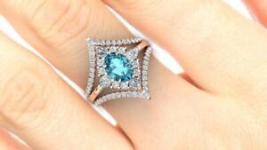 3 Ct Oval Shaped Blue Topaz Vintage Trio Bridal Ring Set 14K Rose Gold Finish