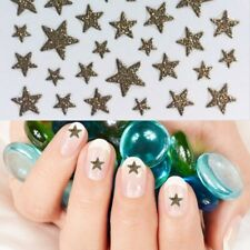 Nagelsticker Glitter Sterne Gold Selbstklebend Nailartsticker Glitzer Gold