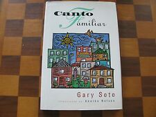 Canto Familiar-Gary Soto-Inscribed-Annika Nelson-1st ed.-Illustrated-HC-Poetry