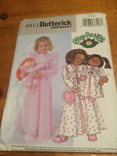 Butterick Girls Fast & Easy  paper sewing pattern. New & Uncut 4012 size 6-7-8