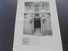 1909... Bauzeitung 87/Würzburg/Bamberg greifenklausche Palais Oberzell Otzen