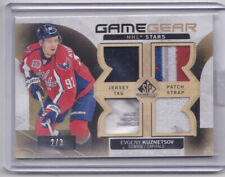 15-16 SP Game Used Evgeny Kuznetsov /3 Game Gear Patch Tag Strap Jersey 2015