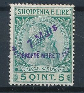 [34314] Albania 1914 Good stamp Very Fine MH signed A.BRUN
