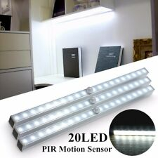 20 LED Portable Wireless Motion PIR Sensor Closet Under Cabinet Night Light Lamp