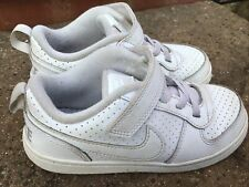 Nike Court Borough Low TD White Trainers Sneakers UK 9.5 Kids Unisex VG
