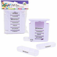Weekly Pill Box Storage Organizer Dispenser 7 Day Medicine Compartment Container