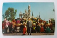 Postcard CA Disneyland Walt Disney Mickey Mouse Characters Castle #1-300