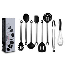 8Pcs Kitchen Utensils Silicone Non-stick Cooking Utensils Stainless Steel Handle