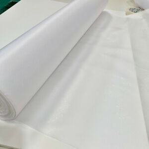 White Iron On Light Weight Fusible Interfacing 75cm Wide Free Post & 7 Lengths