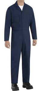 "Red Kap Men's Speedsuit Coverall Navy NWOT SMALL Zip & Snap Closure - 5'7""-5'11"""