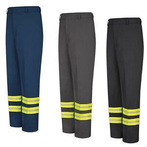 Red Kap Reflective Pants Enhanced Visibility Safety Towing Hi Vis Work Uniform