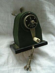 Vintage Spitzen Einstellung German Desk Pencil Sharpener with Desk Clamp