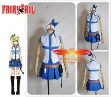Free Shipping Fairy Tail Lucy Heartfilia Cosplay Costume Custom made Size + Belt