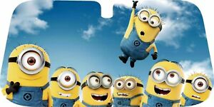 Minion design car sun shade, CHOOSE YOUR SIZE !!!!  130x60, 145x70 or 150x80