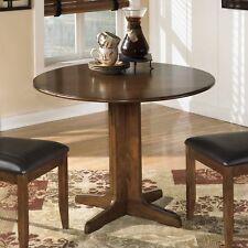 Ashley furniture kitchen dining tables ebay ashley signature design d293 15 stuman round drop leaf table in medium brown new workwithnaturefo