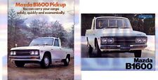 Two 1973 & 1976 MAZDA B1600 PICKUP UTE B-SERIES Japanese Brochures in English