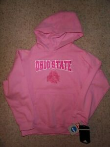 ($30) Ohio State Buckeyes PINK ncaa Jersey Sweatshirt Youth *GIRLS* (L-LARGE-14)