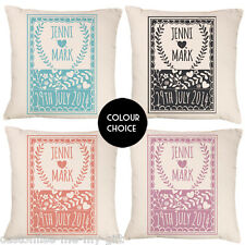 Vintage Crest Cushion Mr & Mrs | Wedding | Gift For Her | Option to personalise