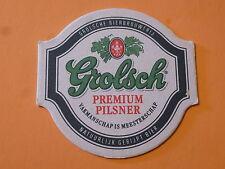 Dutch Beer Coaster ~ GROLSCH Bierbrouwerij Premium Pilsner ~ Netherlands Brewery