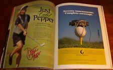 Dottie Pepper Autograph on Official Spectator Guide