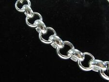12mm Rolo Chain 18 INCH Necklace Solid 925 Sterling Silver, Rollo Belcher Links