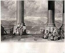 TORINO da BASILICA DI SUPERGA .Piemonte.Regno di Sardegna. HAKEWILL.ACCIAIO.1820