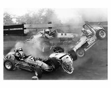 1967 Indiana Sprint Car Race Car Crash Photo c7225-A1VDR3