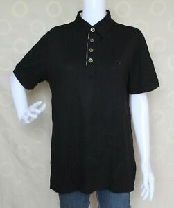 Burberry Black Polo Shirt Blouse for Women size Medium may fit to Large - XL