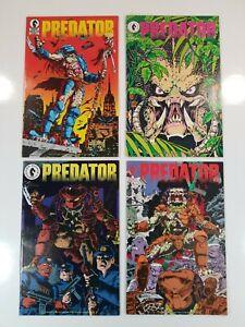 PREDATOR (1989) #1-4 Complete Run 1st app Predator! Dark Horse Comics 1st print!