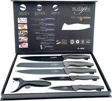 Messer Set 6 tlg  Küchenmesser Kochmesser Fleischmesser Brotmesser Schäler