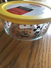 SOLD OUT RETIRED New Pyrex Disney The Original Mickey Mouse 4 Cup Storage In Red