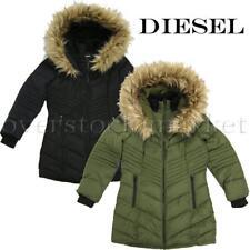 New Girls Diesel Long Hooded Parka! Detachable Faux Fur Trim! Variety Sz/Clr