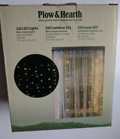 Plow & Hearth Electric Micro LED Curtain Lights on Silver Wire, 320 Lights