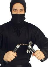 Black Nunchucks Ninja Warrior Martial Arts Weapon Weapons Novelty Fancy Dress