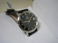 OMEGA SEAMASTER DE VILLE AUTOMATIC DATE BLACK DIAL STAINLESS STEEL 1968 WATCH
