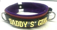 Layered Leather collar custom -Choose any word/name Daddy's Girl slave slut mine