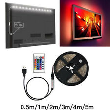 5V 5050 RGB LED Strip Light Bar TV Back Lighting Kit+USB Remote Control 60SMD/M