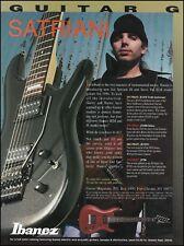 Joe Satriani Ibanez JS1000 Deluxe Guitar 1996 ad 8 x 11 advertisement