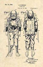 Official EARLY Diving Suit US Patent Art Print- SCUBA Antique Vintage Dive 445